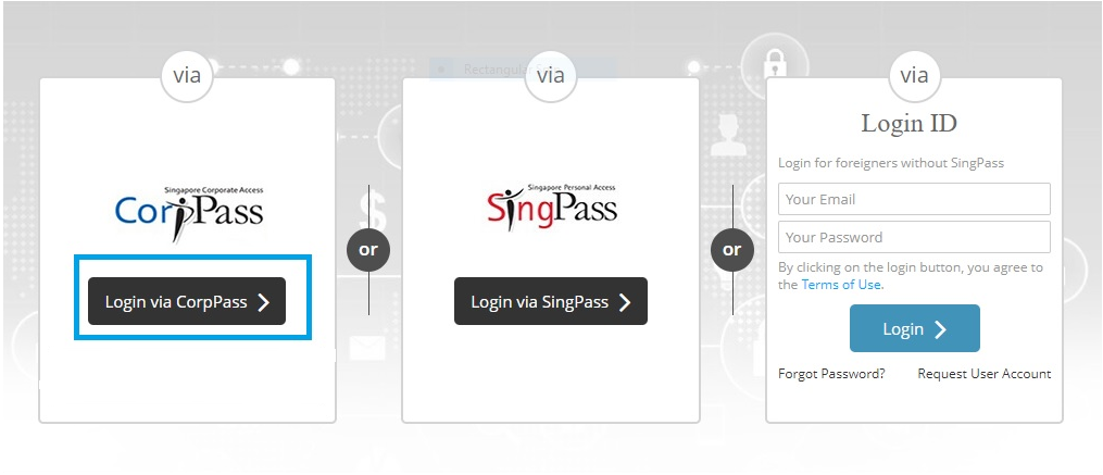 GoBusiness Licensing Login Page